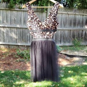 Modcloth • Leopard Print Cut-out Dress